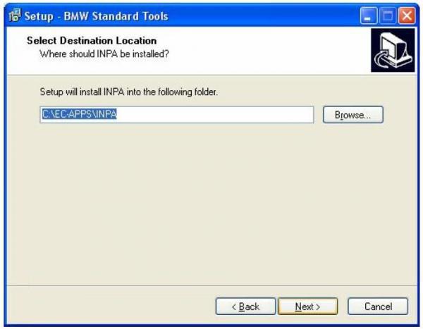 BMW INPA Ediabas software and setup instruction step8