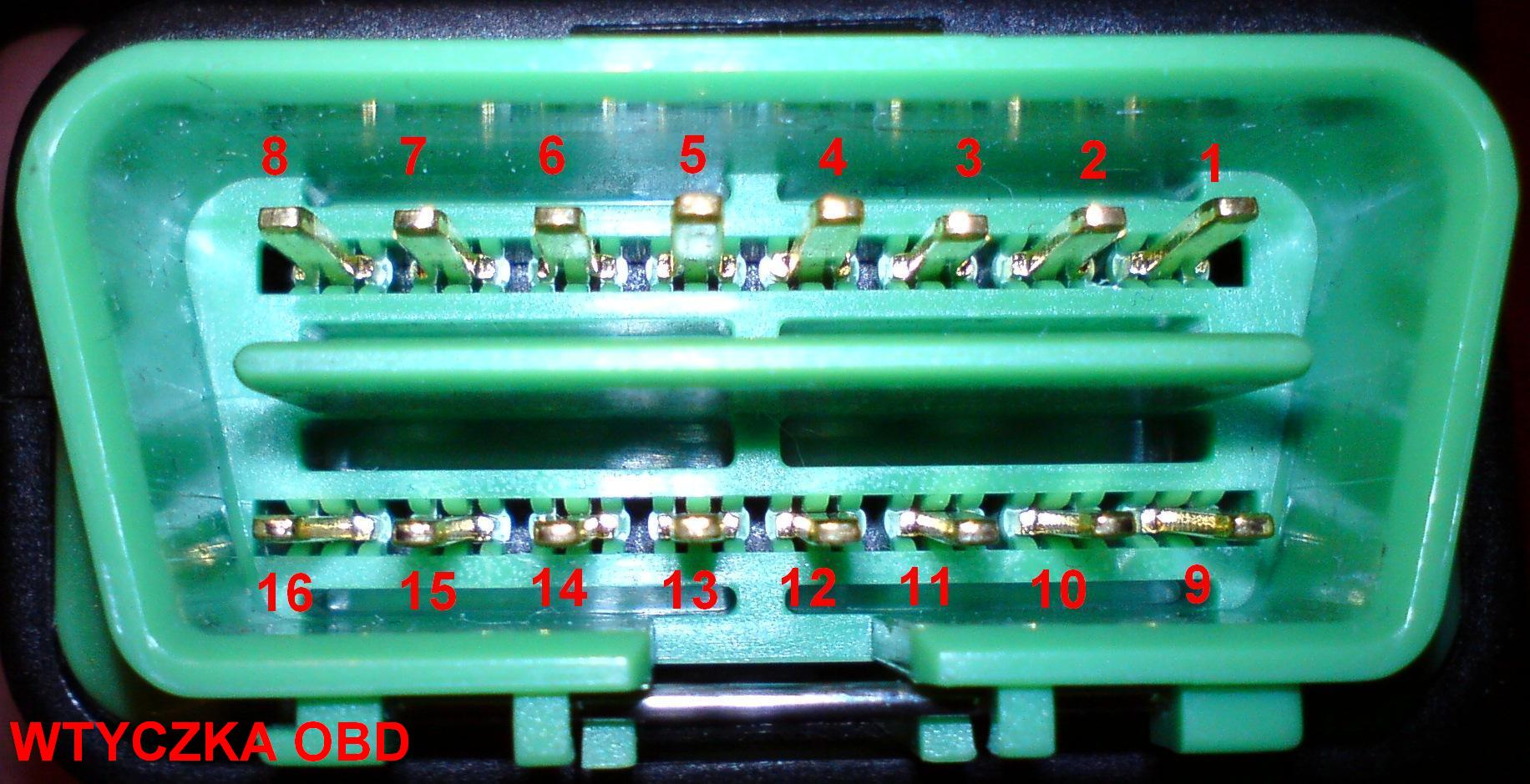 Connection Diagram Between Obd Plug And Lexia Pcb Connector