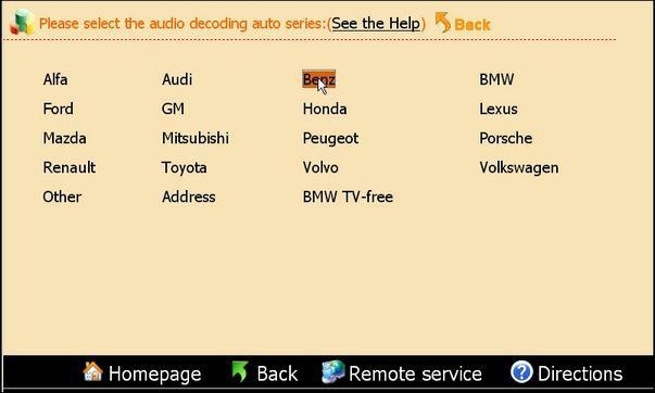 Mercedes Benz audio decoding