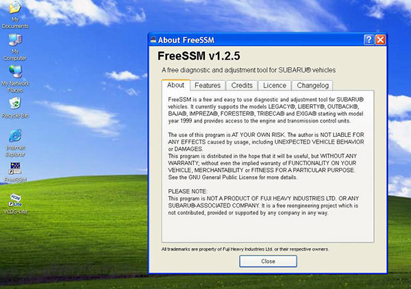about freeSSM V1.2.5