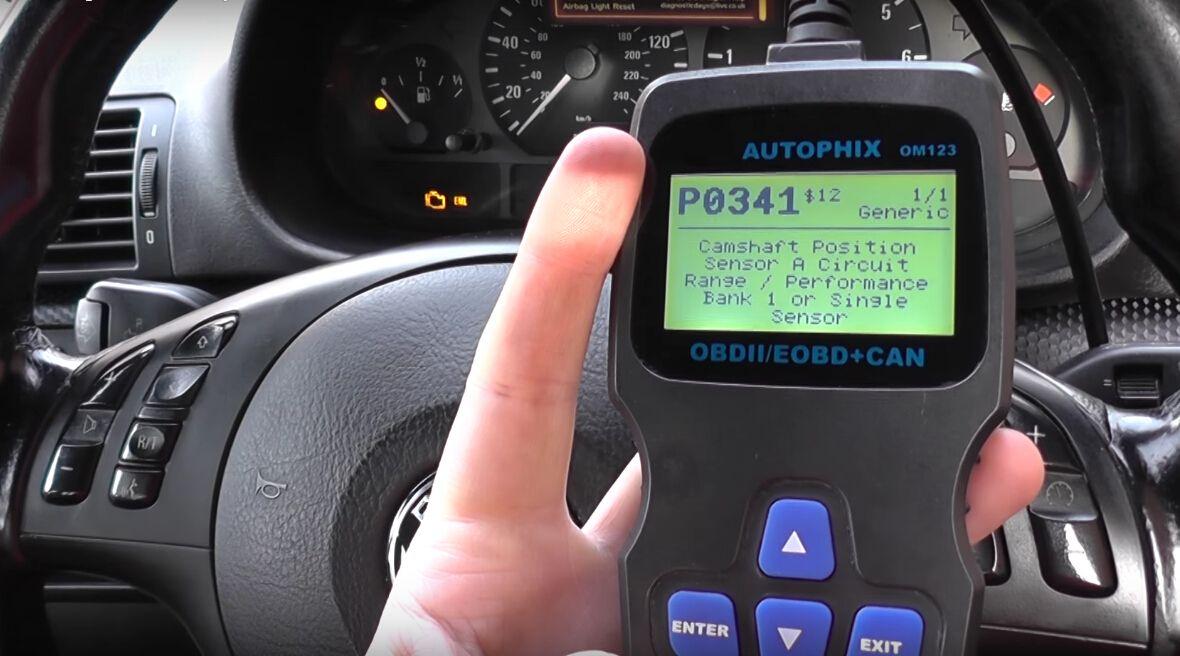 How Autophix Om123 Reset Bmw Eml Light P0341 Fault Code Car Diagnostic Tool