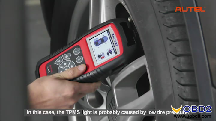 Tire Pressure Light >> How to use Autel MaxiTPMS TS601 / PAD test clone create TPM sensor and program MX-sensors ...