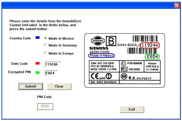Nissan-Nats-pin-code