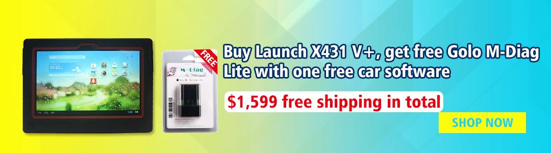 buy x431 v+ get free golo mdiag lite