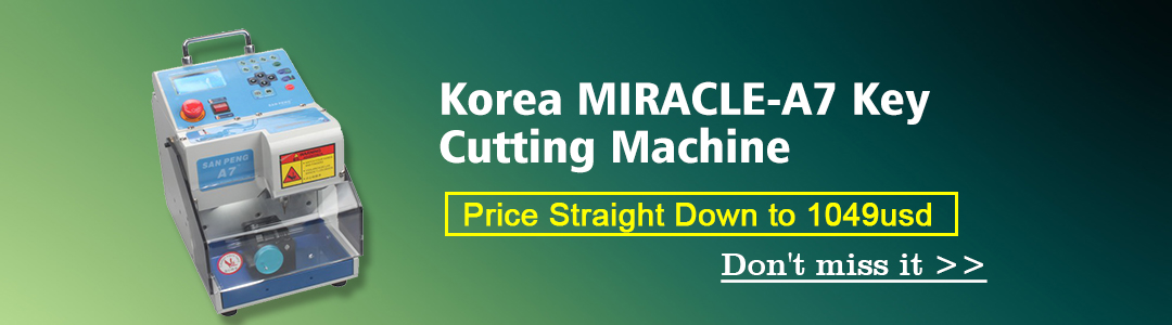 MIRACLE-A7 Key Cutting Machine Car Key Cutter
