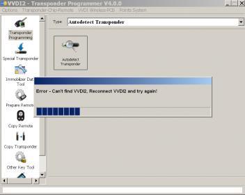 VVDI2 error