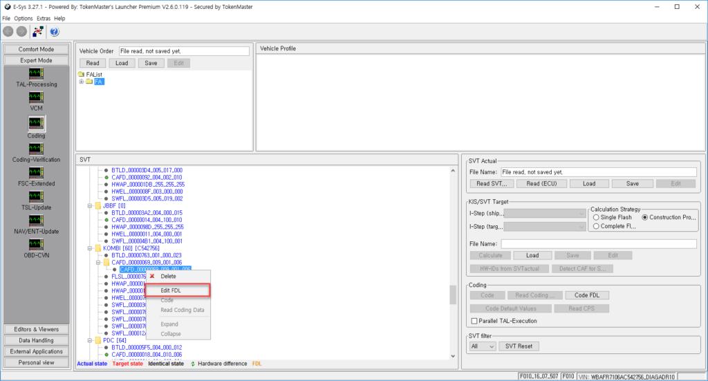 How to do BMW F15 X5 FDL Coding by E-Sys 3 27 1 and ENET