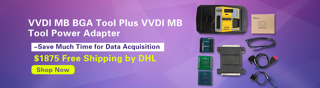 Original Xhorse VVDI MB BGA TooL Benz Key Programmer Plus VVDI MB Tool Power Adapter for Data Acquisition