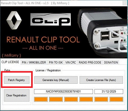 Install drivers renault can clip