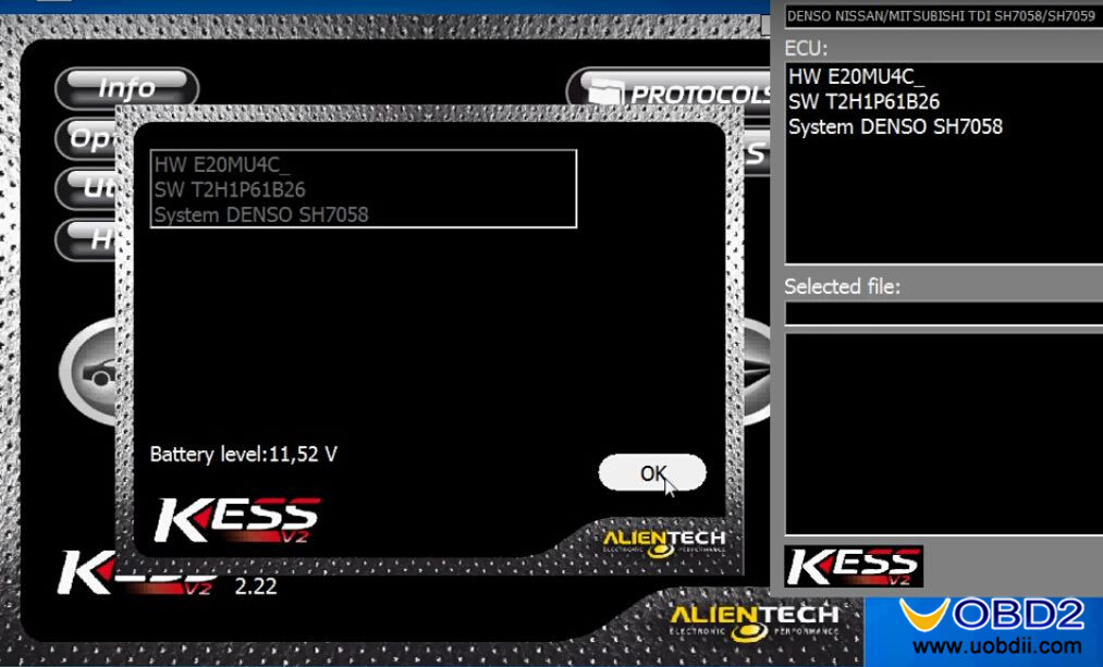 New KESS V2 FW 5 017 read Nissan Pathfinder YD25 ECU How