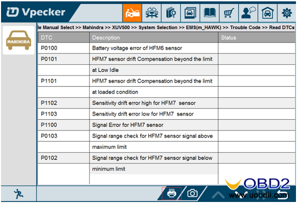 Vpecker INDIA Wifi adapter on Tata MARUTI Mahindra car list