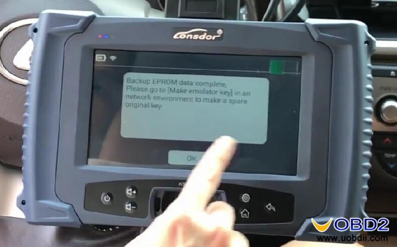 Lonsdor K518ISE Program Toyota LEXUS ES200 All Key Lost (5)