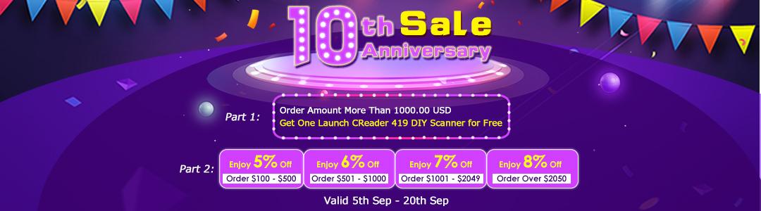 10th sales