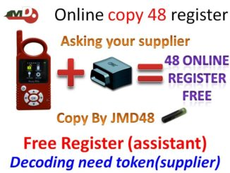 JMD Handy Baby 96 bit 48 online copy!! if you have JMD assistant, it is for free ! if you don't have JMD assistant , it needs tokens!! each time decoding need token!! If you need JMD Handy Baby, or JMD Handy Baby + Assistant, be free to contact uobdii.com for a best price: email at Sales@UOBDII.com or add skype: uobd2net@live.com How to register and open Handy Baby ID48 96bit online copy? JMD Handy Baby 96 bit 48 online copy and register Youtube Video: 1.Video by JMD Company: https://youtu.be/7-8Axc32sQA 2.Video by Italian user: uploading.....
