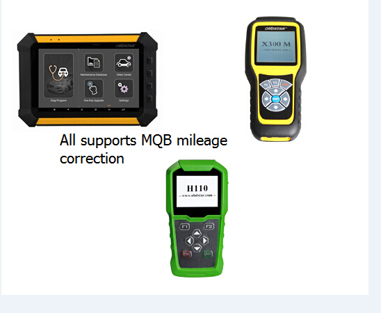 OBDstar X300M mileage correction for MQB platform model list