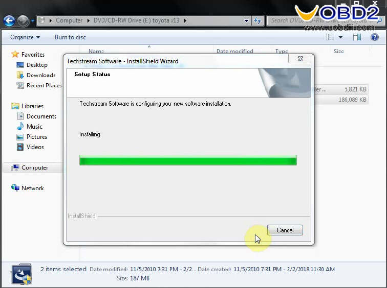 Install Toyota Techstream V13.00.022 on Win7 (3)