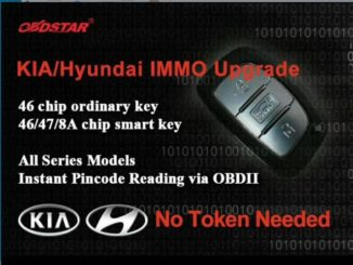 OBDSTAR X300PRO3 & X300DP can update Kia/Hyundai IMMO Now for free within the one-year upgrade validity period- www.uobdii.com. Features: 46 chip ordinary key 46/47/8A chip smart key All series Models Instant Pincode Reading via OBDII Maybe you are interested in: OBDSTAR X300PRO3 update procedure OBDSTAR X300DP update procedure