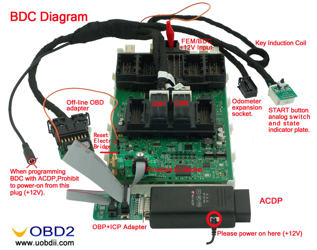 Yanhua Mini Acdp Master Wiring Diagram Of Cas3 Odb Obd