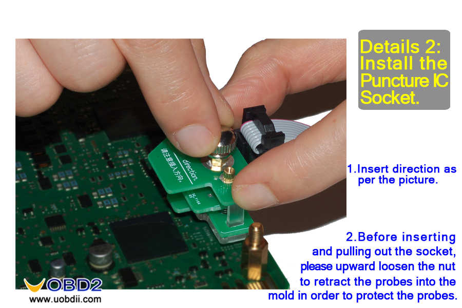 04-Install the puncture ic socket -01