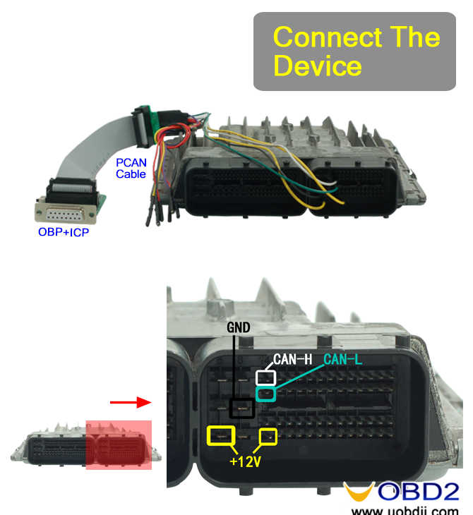 MSV80 OBD wiring diagram of ACDP-02