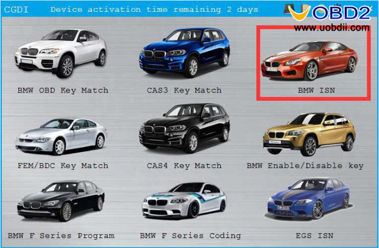 CGDI BMW Pro to Program CAS3 MSV80 ECU After Replacement (3)