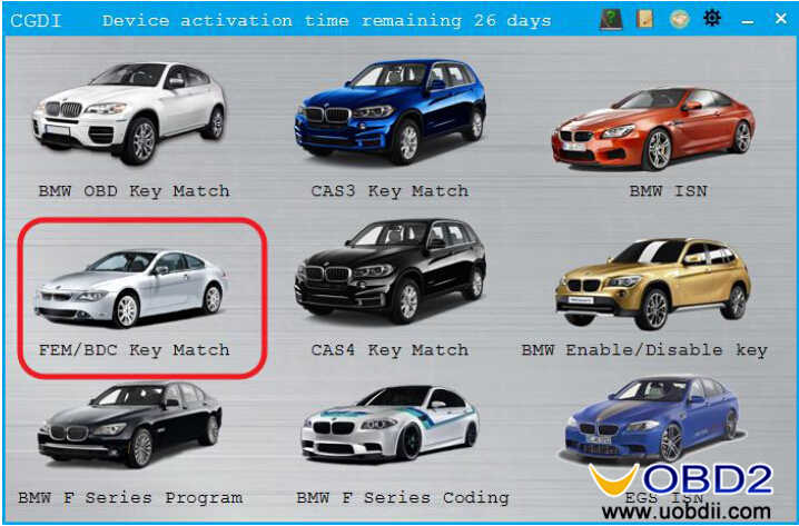 CGDI BMW to Adding & All Keys Lost Programming for BMW FEMBDC Guide (1)