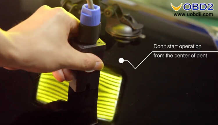 How to Use WOYO PDR007 Paintless Dent Repair Tool (14)