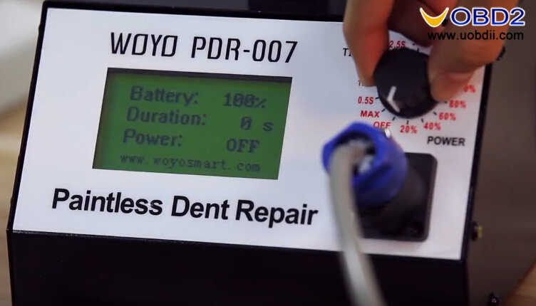 How to Use WOYO PDR007 Paintless Dent Repair Tool (2)