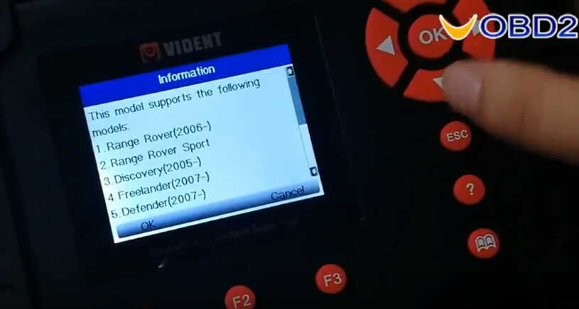 VEDIENT ilink400 Diagnose & Special Functions on Land Rover Freelander 2 (3)