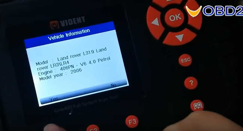 VEDIENT ilink400 Diagnose & Special Functions on Land Rover Freelander 2 (4)