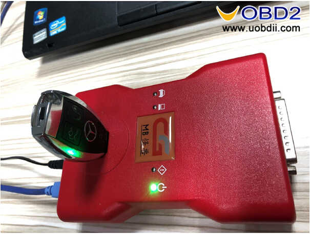 How to Program New Key for Benz W221 by CGDI MB Infrared Function (1)