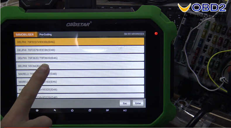 OBDSTAR X300 DP Plus Read PIN Code for Fiat Delphi 93c66 (3)