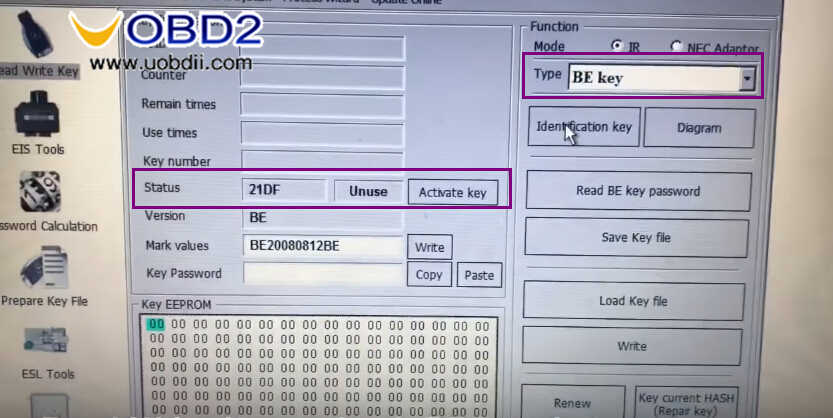 Benz W211 All Key Lost Programming by VVDI Prog and MB Tool (21)