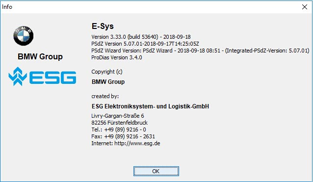 BMW E-sys Download