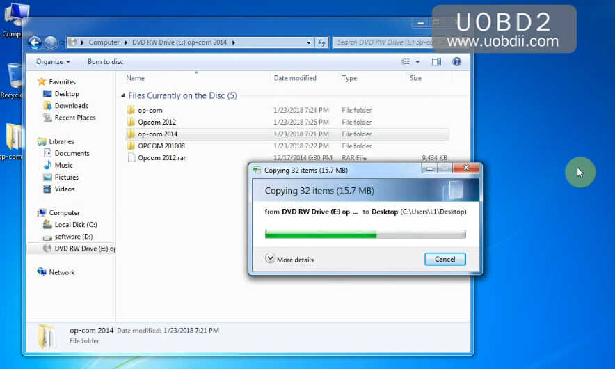 How to Install OPCOM VAUX-COM 120309a V1.99 on Win7 (1)