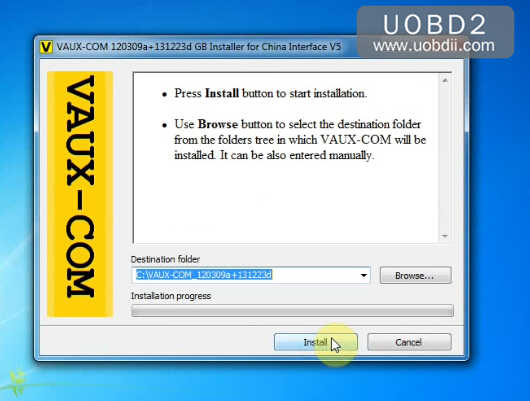 How to Install OPCOM VAUX-COM 120309a V1.99 on Win7 (4)