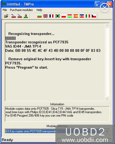 How to Use TMPro2 to Copy VAG ID44 PCF7935 (2)