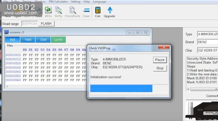 VVDI Prog+W209211 ZGW Adapter Read Benz W209 ST12 (13)