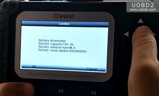 Vident iAuto700 Register New Battery After Replacement (12)