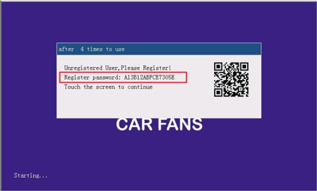 How to Register and Active CAR Kar FANS C800+ Diagnosis (2)