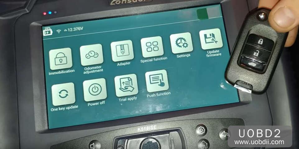 Lonsdor K518S Add New Key for Honda CR-V 2015 (1)