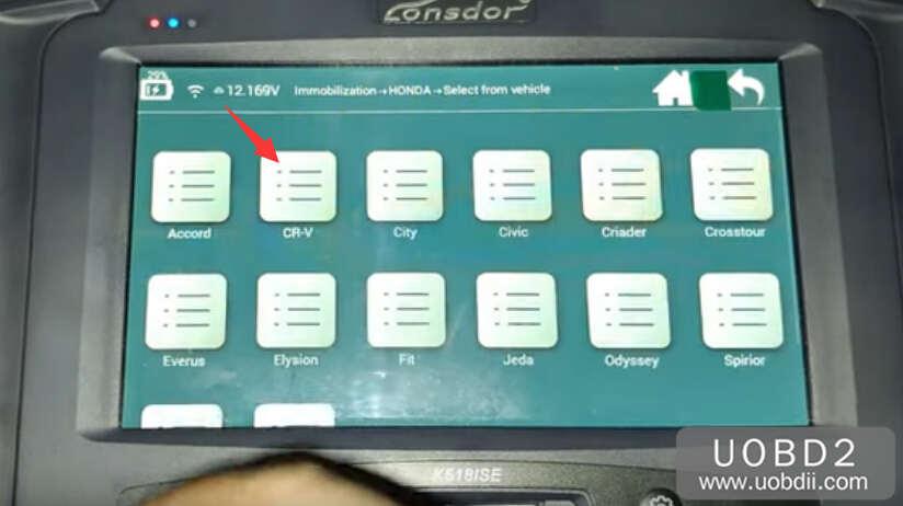 Lonsdor K518S Add New Key for Honda CR-V 2015 (5)