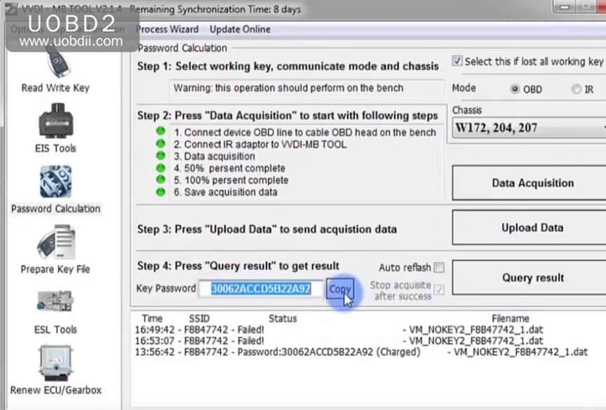 VVDI MB Tool All Keys Lost Programming for Benz W204 w207 (16)