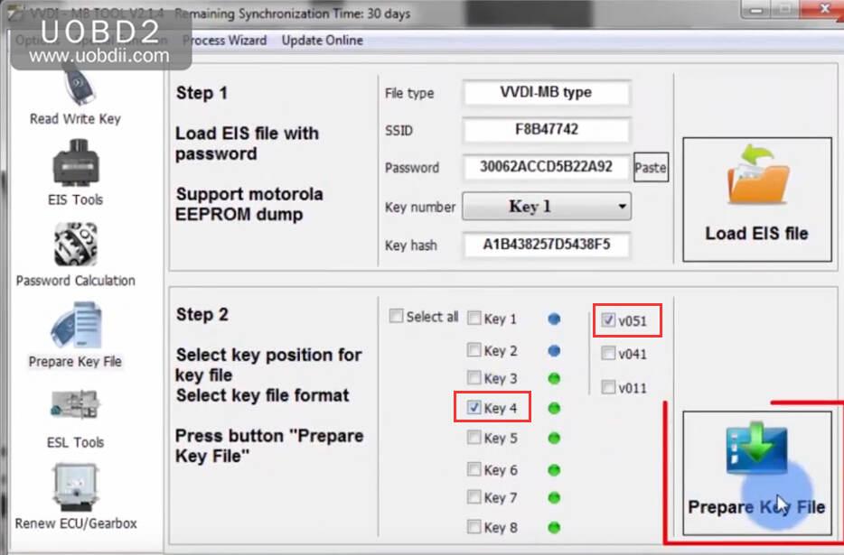 VVDI MB Tool All Keys Lost Programming for Benz W204 w207 (23)