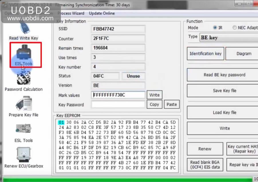 VVDI MB Tool All Keys Lost Programming for Benz W204 w207 (30)