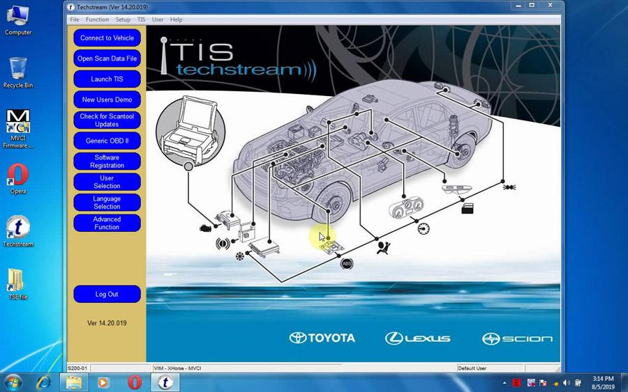 Toyota TIS Techstream V14 20 019 14 10 028 14 00 018 13 00