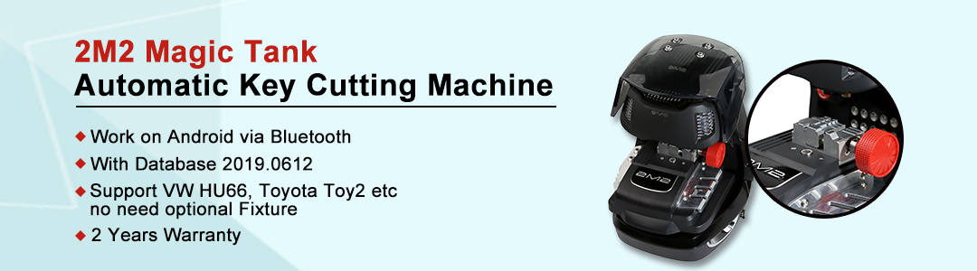 Newest 2M2 Magic Tank Automatic Car Key Cutting Machine
