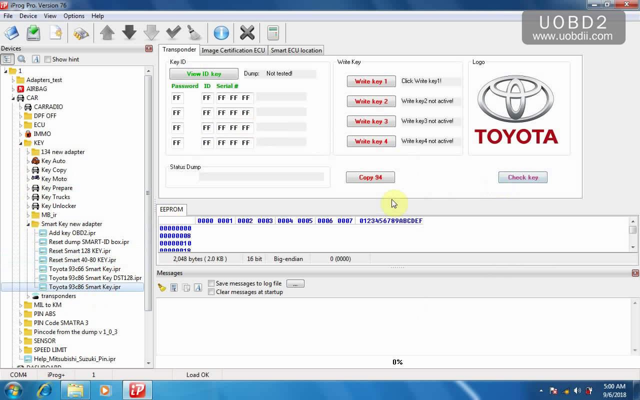 iProg+ pro V76 free download, Win7 setup & IMMO, eeprom
