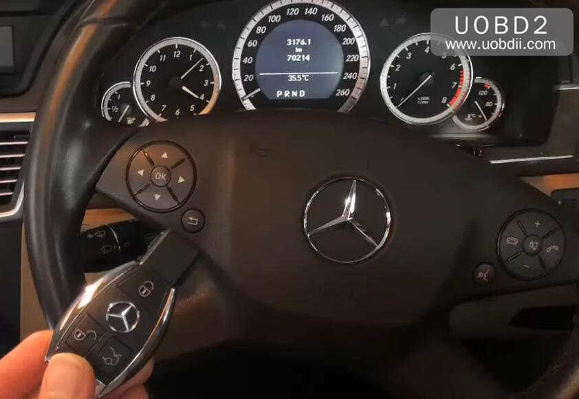 Autel IM608 All Key Lost Programming for Benz W212 E200 2012 by OBD (1)