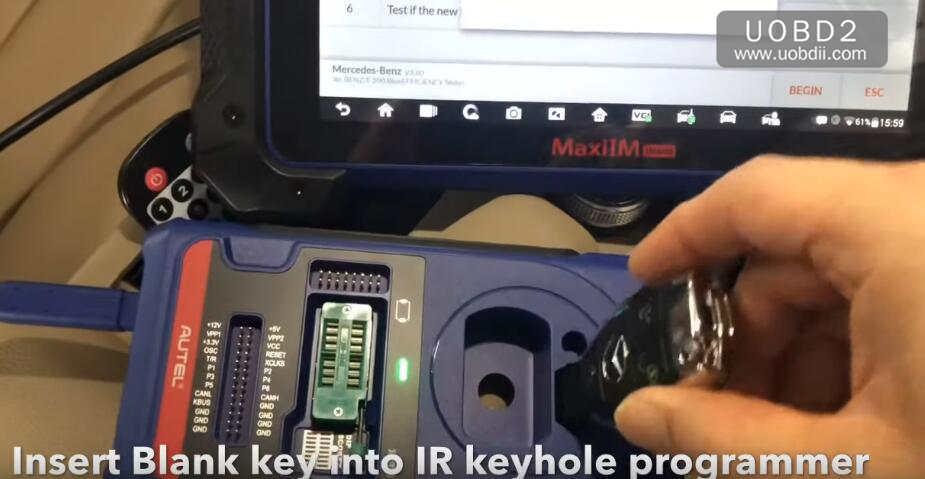 Autel IM608 All Key Lost Programming for Benz W212 E200 2012 by OBD (10)